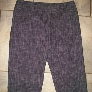 BCX Gray Womans Long Shorts Crop Pants Capris M